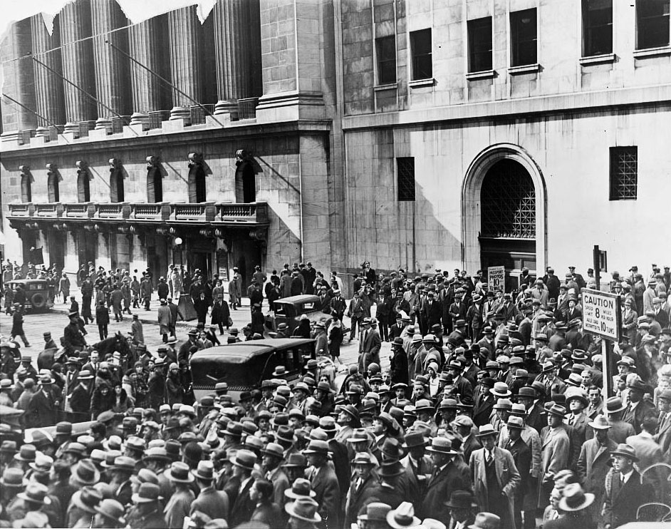 The Great Depression starts: New York Stock Exchange Crash of 1929