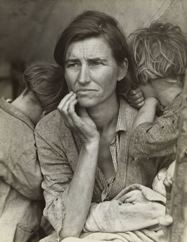 The Great Depression photographs by Dorothea Lange.