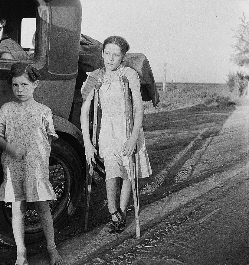 Great Depression era living conditions: Children of Oklahoma.