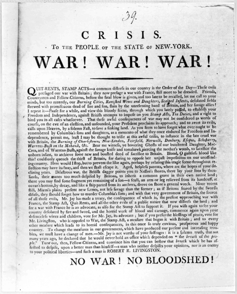 One of the Colonial broadsides