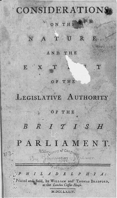 The nature and the extent of legislative authorities of the British Parliament